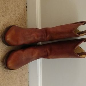 Frye cowboy boots very slightly worn. Conditioned